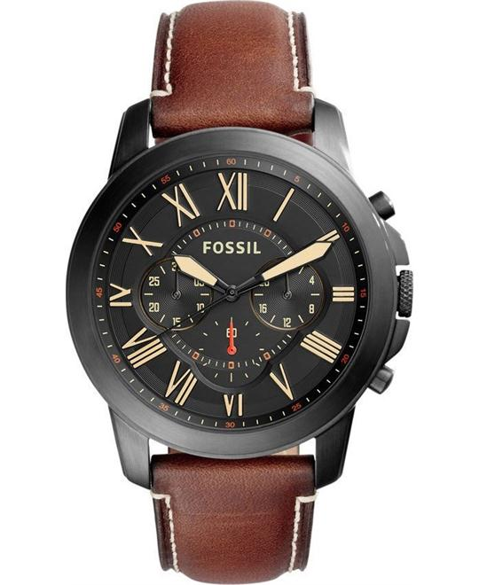 Fossil Grant Black Dial Chronograph Men's Watch 44mm