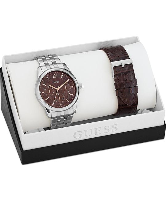 GUESS Interchangeable Classic Men's Watch Set 42mm