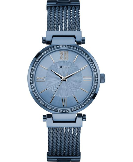 GUESS Sky Blue Ion-Plated Bracelet Women's Watch 36mm
