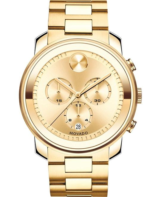 Movado Bold Swiss Chronograph Gold Watch 44mm
