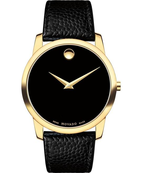 MOVADO MUSEUM GOLD PLATED CASE WATCH 40mm