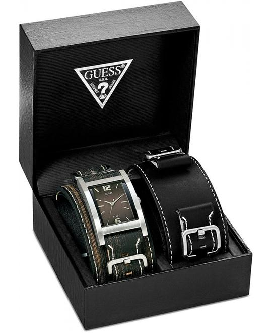 GUESS SADDLE UP SS WATCH SET 40x32mm