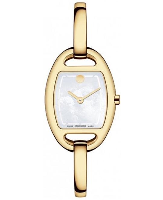 Movado Museum Pearl Gold Ladies Watch 23.8mm