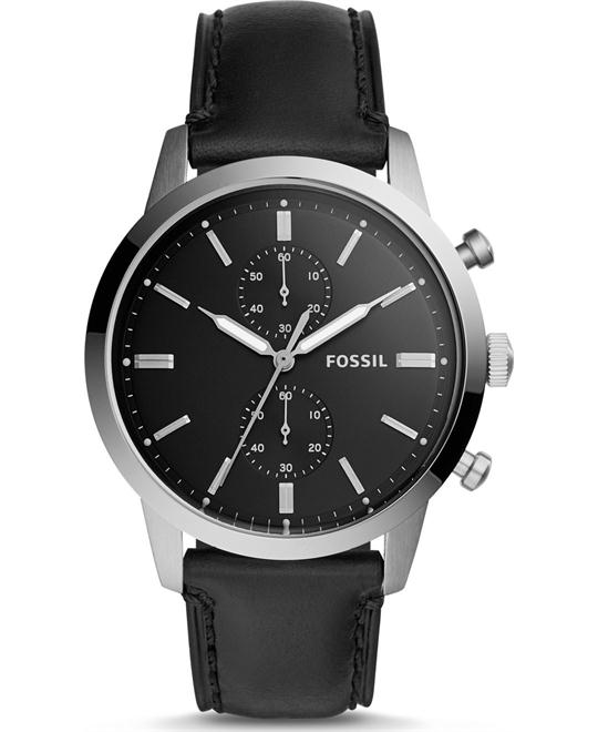 Fossil 44mm Townsman Chronograph Black Watch 44mm