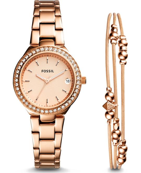 FOSSIL BLANE ROSE GOLD-TONE STAINLESS STEEL WATCH 31MM