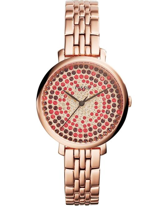 Fossil Jacqueline Rose Gold-Tone Women's Watch 36mm