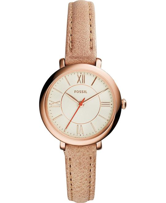 Fossil Jacqueline Small Rose Gold-Tone Watch 26mm