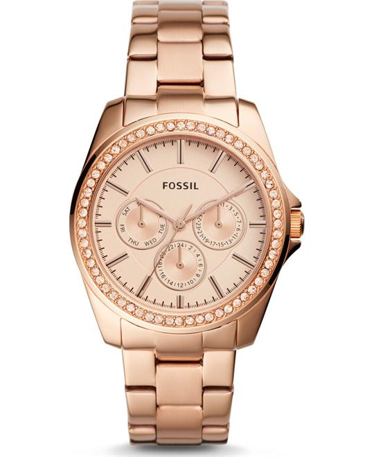 Fossil Janice Multifunction Rose Gold-Tone Watch 40mm