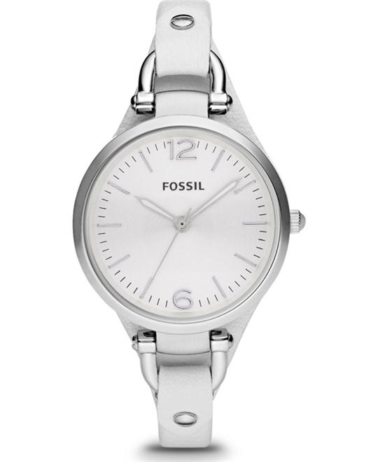 Fossil Ladies Georgia White Watch 32mm