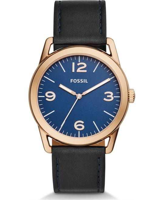 Fossil Ledger Three-Hand Navy Watch 42mm