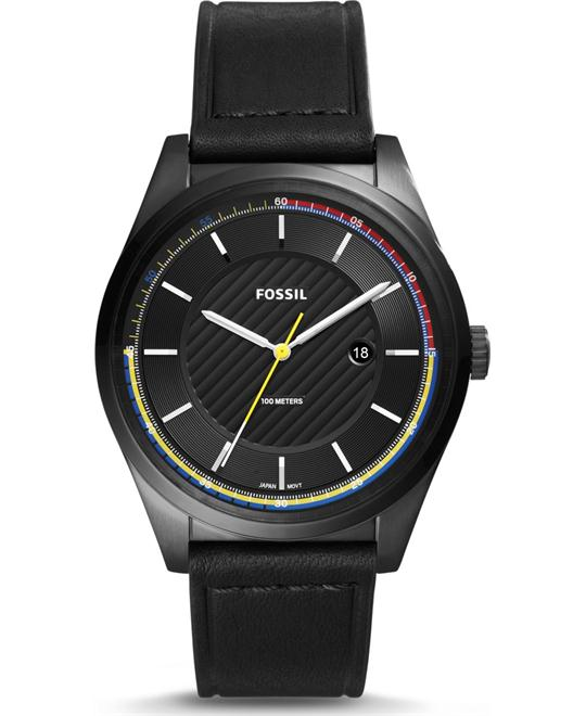 Fossil Mathis Three-Hand Date Black Watch 44mm