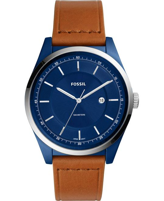 Fossil Mathis Three-Hand Date Light Brown Watch 44mm