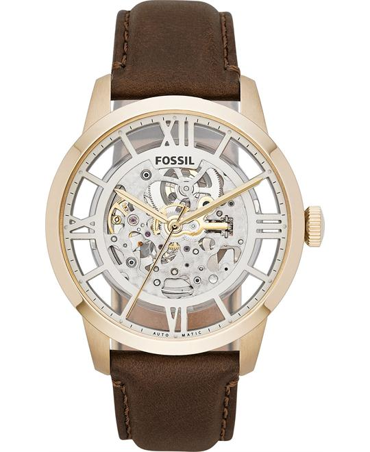 Fossil Men's Automatic Townsman Brown Watch 44mm