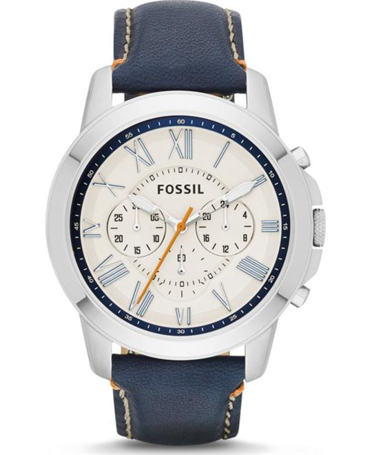 Fossil Men's Grant Chronograph Leather Watch 44