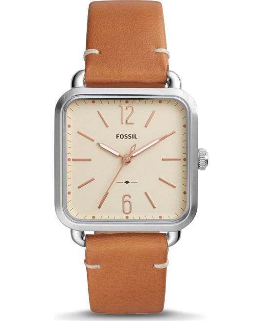 Fossil Micah Three-Hand Sage Tan Watch 32mm