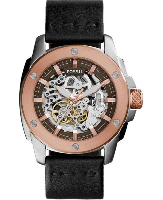 Fossil Modern Machine Automatic Leather Watch 50mm