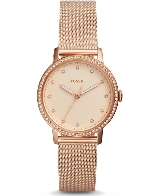 Fossil Neely Three-Hand Rose Gold-Tone Watch 34mm