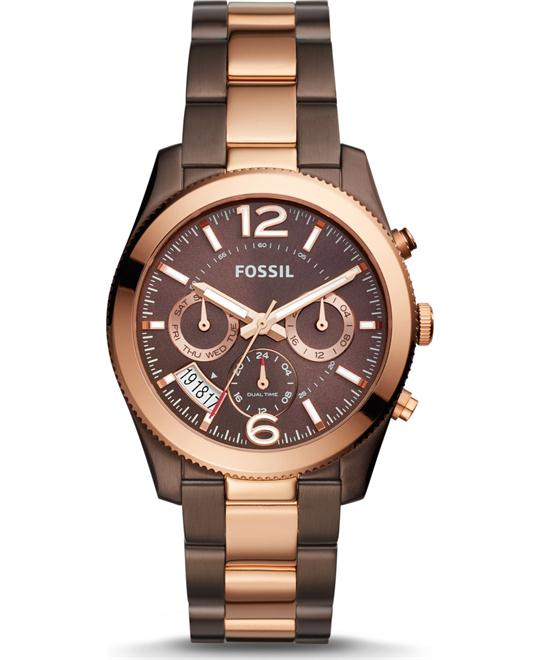 Fossil Perfect Boyfriend Multifunction Two-Tone Watch 39mm