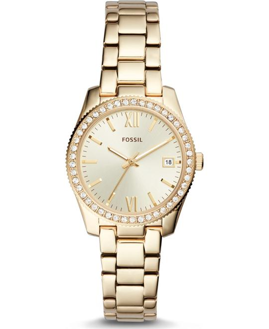 Fossil Scarlette Three-Hand Date Gold-Tone Watch 32mm