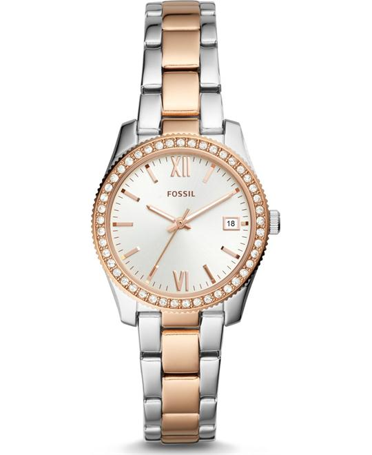 Fossil Scarlette Three-Hand Date Two-Tone Watch 32mm