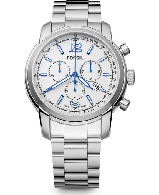 FOSSIL SWISS MADE CHRONOGRAPH WATCH 45MM