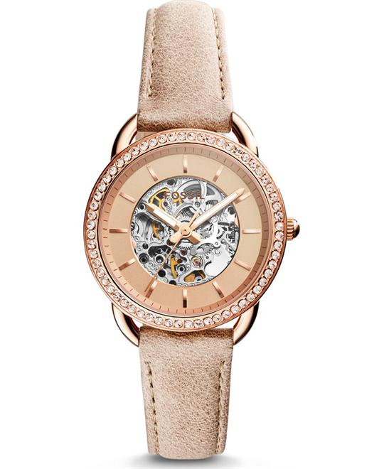 Fossil Tailor Automatic Three-Hand Sand Watch 35mm