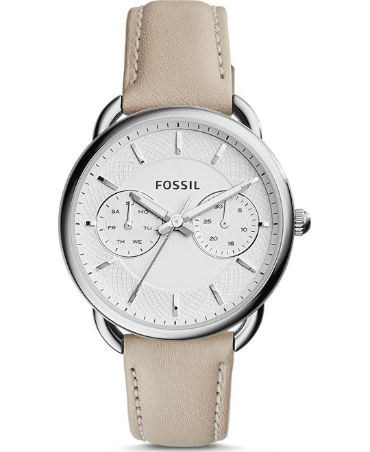 FOSSIL Tailor White Dial Ladies Multifunction Watch 34mm