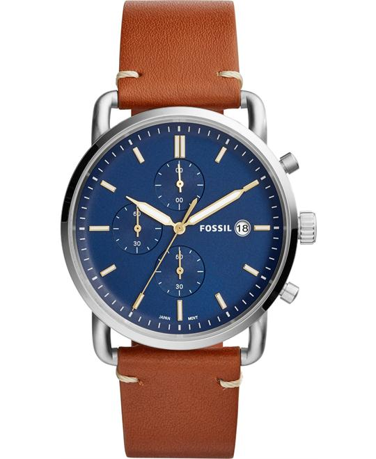 Fossil The Commuter Chronograph Light Brown Watch 42mm