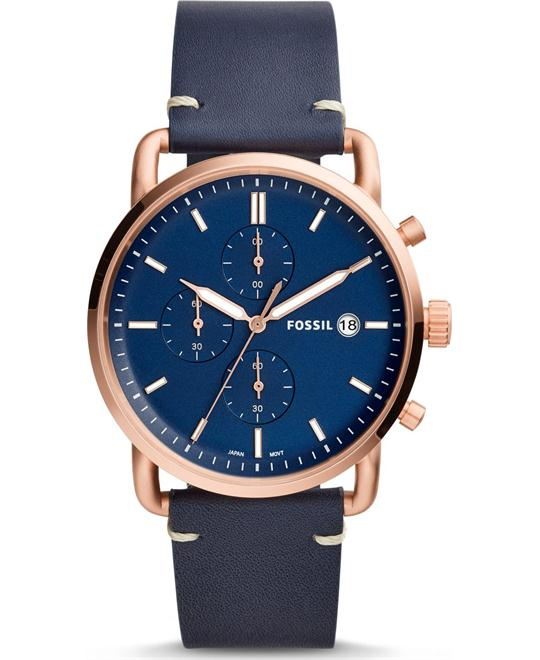 Fossil The Commuter Chronograph Navy Watch 42mm