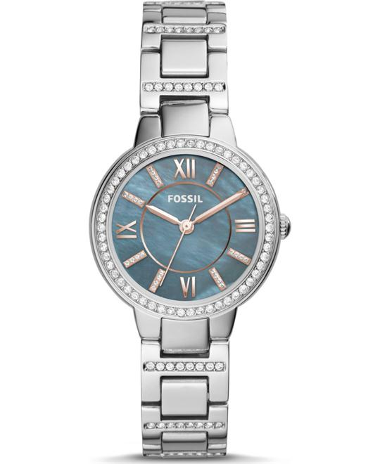 Fossil Virginia Three-Hand Stainless Steel Watch 30mm