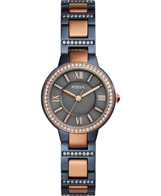 Fossil Virginia Three-Hand Two-Tone Watch 30mm