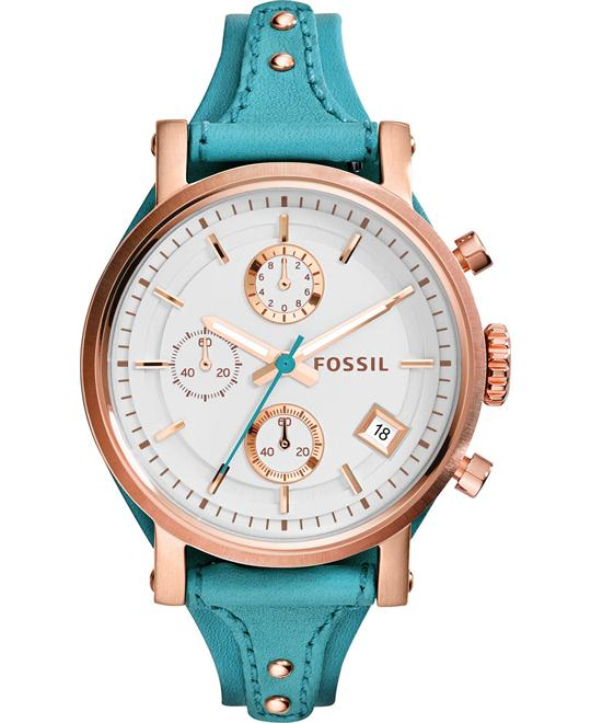 Fossil Women's Chronograph Original Turquoise Watch 38mm