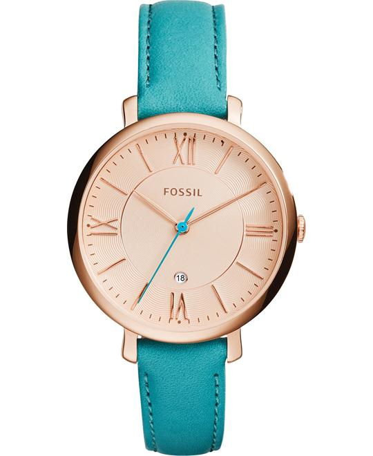 Fossil Jacqueline Women's Turquoise-Colored Watch 36mm