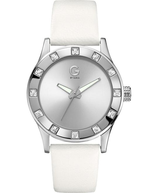 G by GUESS Women's White Silver-Tone Watch 40mm