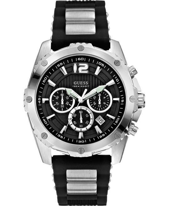 GUESS Bold Chronograph Silicone Men's Watch 47mm