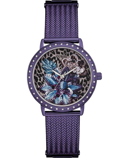 GUESS Brocade Purple Watch 35mm