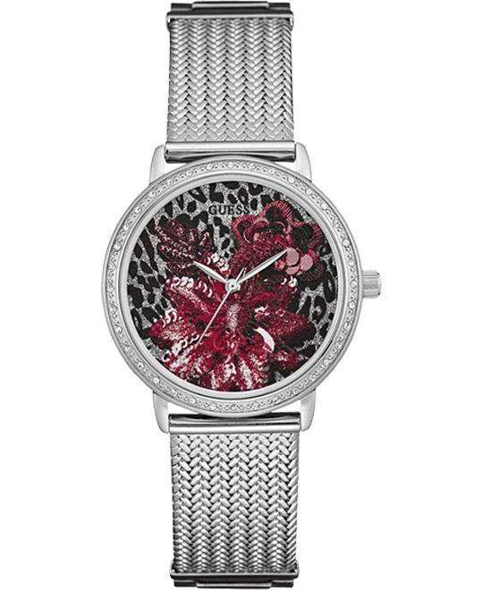 Guess Brocade Women's Red Floral Dial Watch 35mm