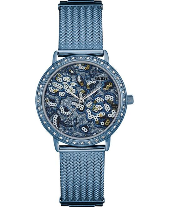 GUESS BROCADE Women's Trendy Blue Watch 35mm