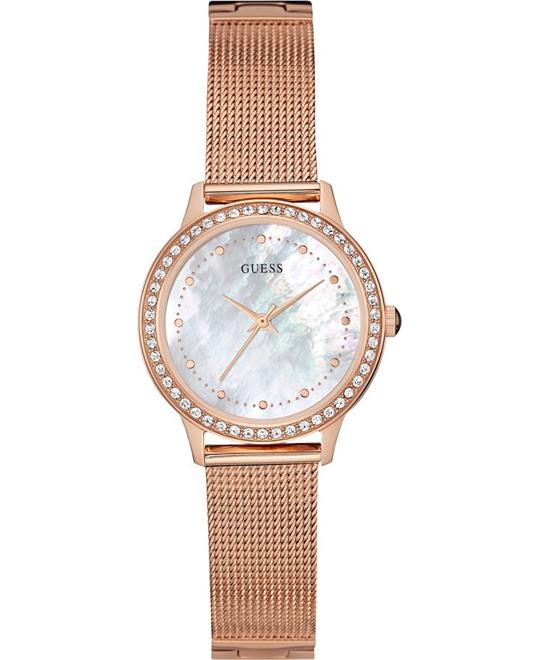 GUESS Dress,Rose Gold-Tone Watch 30mm