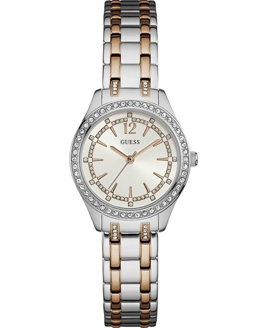 GUESS Dress Stainless Steel Crystal Watch 30mm