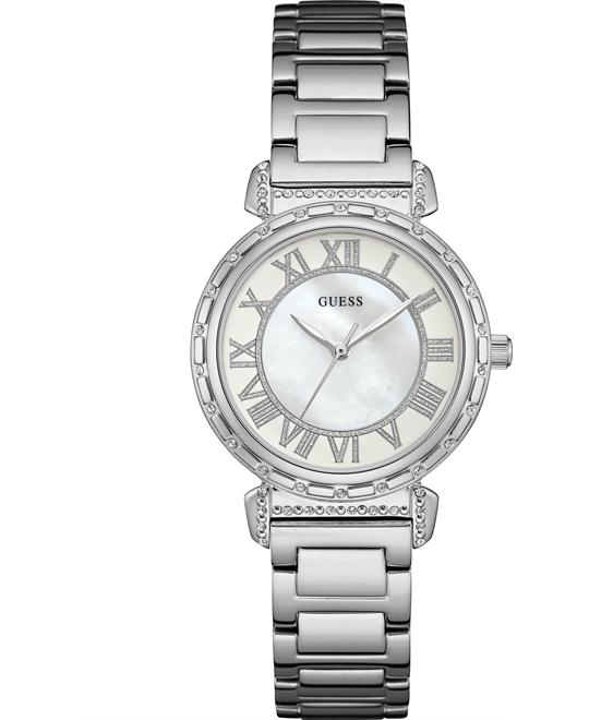 GUESS Dressy Silver-Tone Watch 34mm