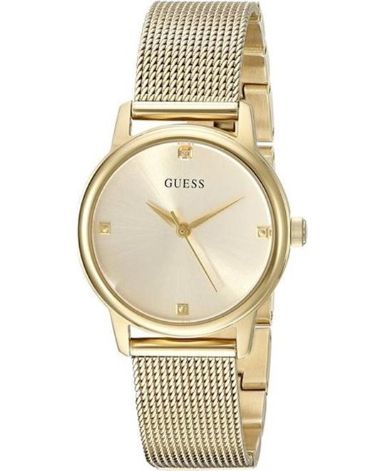 GUESS Feminine Gold-Tone Diamond watch 28mm