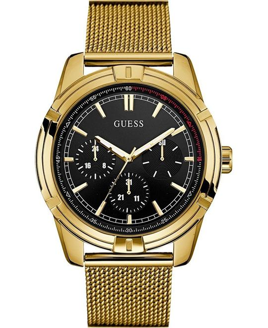 GUESS Gold-Tone Mesh Bracelet Watch 46mm