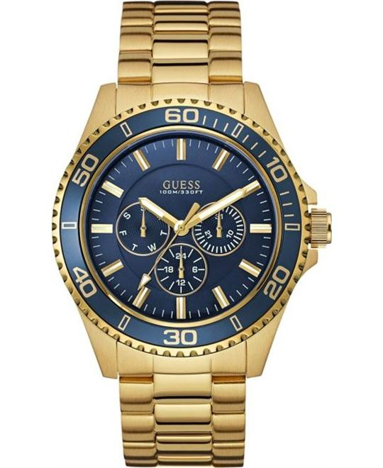 GUESS Gold-Tone Steel Bracelet Men's Watch 45mm