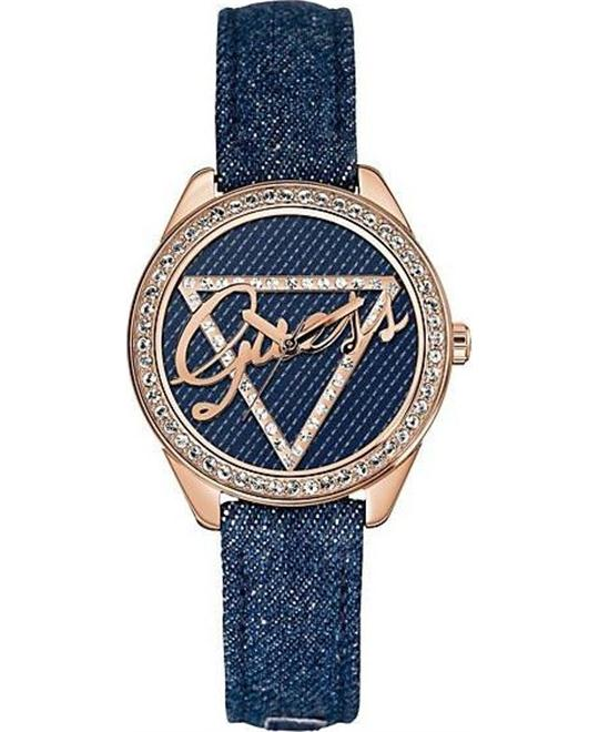 GUESS Iconic Blue Denim Women's Watch 37mm