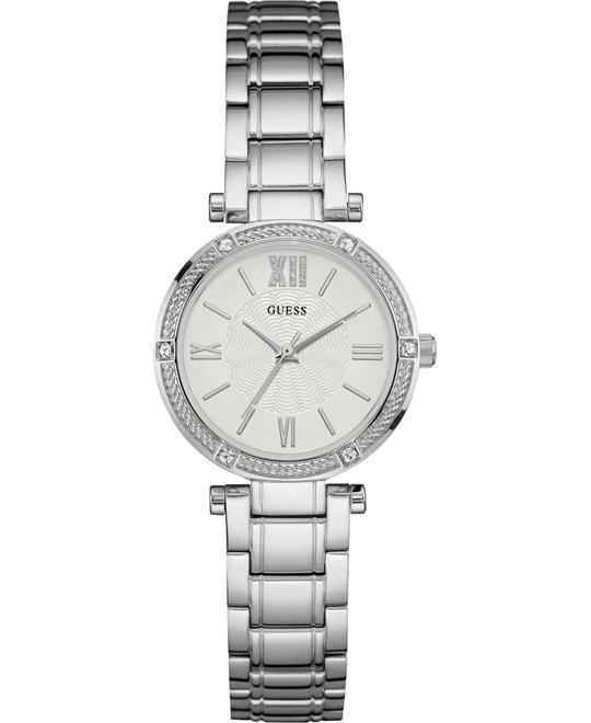 GUESS Jewelry-Inspired Silver-Tone Watch 29.5mm