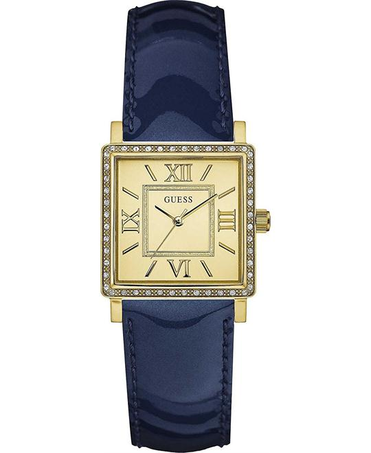 Guess Ladies Dress Blue Leather Strap Watch 28mm