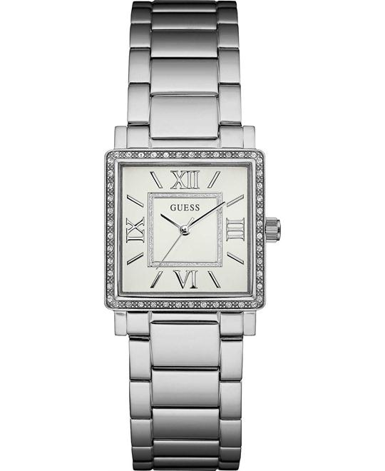 GUESS Ladies Dress Silver-Tone Watch 28mm
