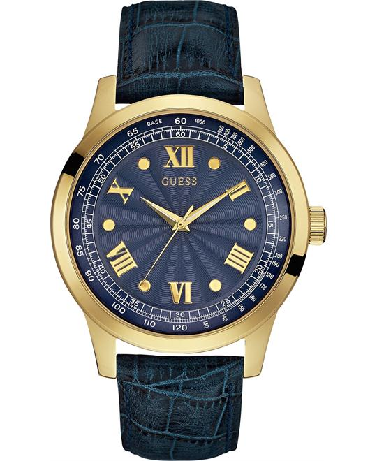GUESS Men's Blue & Gold-Tone Watch 44mm