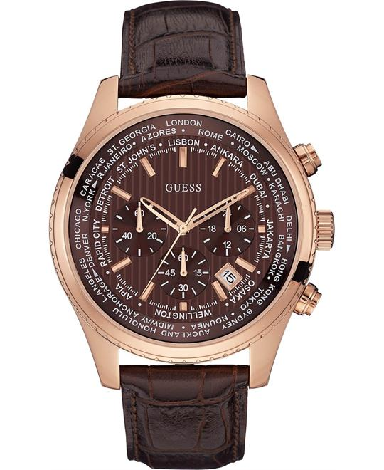 GUESS Men's  Brown Chronograph Watch 46mm